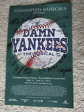 Signed Damn Yankees The Musical Advertising Poster Red Sox Version Play w 2 Bags