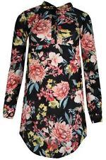 Vestiti da donna a manica lunga floreale con colletto
