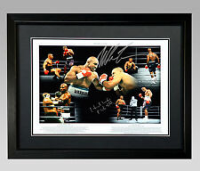 Mike Tyson And Evander Holyfield Duel Signed And Framed Boxing Montage