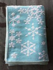 David Fussenegger Austria Cotton Snowflake Throw Baby Blue – New