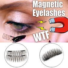4PCS Magnetic EyeLashes False Magnet Eye Lashes Natural Extensions Reusable 3D