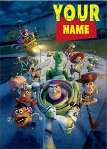 PERSONALISED TOY STORY 4 JIGSAW PUZZLE A4 120 PIECE
