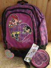 NEW Original Powerpuff Power puff Girls Backpack Vintage 2002 w bonus cd case!