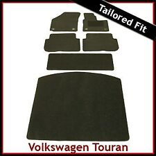 VW Touran Mk2 2010-2015 Fully Tailored Fitted Carpet Car & Boot Mats BLACK