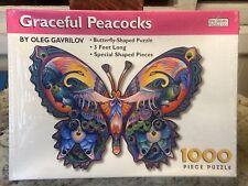 1999 Spilsbury Puzzle Oleg Gavrilov Graceful Peacocks 1000 Pieces. Sealed.