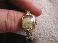 Vintage Hamilton Ladies Women's Watch 17 Jewels 750 14K Gold L & W
