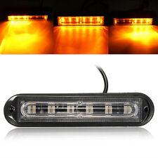 6 LED Car Truck Trailer Emergency Light Bar Hazard Strobe  Flash Light Amber