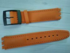WATCH BAND BRACELET MONTRE pour Swatch **** cuir   *orange* 16mm***REF TV107