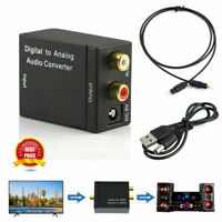 Optical Coaxial Toslink Digital to Analog Audio Converter Adapter RCA L/R