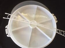 VINTAGE TUPPERWARE Carrier TAKER Relish VEGIE Pie Divided Party TRAY Lid/handle