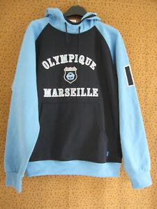 Sweat Vintage Olympique Marseille OM Sport football jersey ciel et marine - S