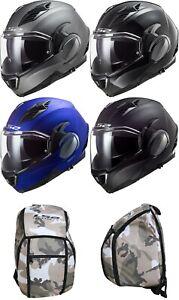 LS2 FF900 Valiant II Solid Flip up Helmet Motorcycle Helmet Incl. Free