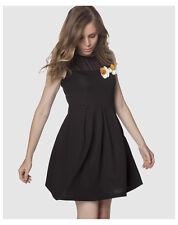 Robes noirs en polyester taille L pour femme