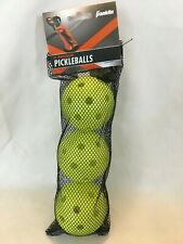 Franklin Sports Yellow Indoor Pickleballs Pickle Ball NEW Set of 3