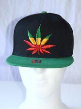 Rasta SnapBack cap _ escudo Gorra Camuflaje _ _ cáñamo hoja _ Weed Leaf _ complacientes