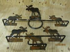 Moose Towel Bar 4 Piece Set Bathroom Western Rustic Log Home Decor