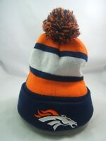 Denver Broncos Bud Light Winter Hat Orange Blue White Toque Beanie Stocking Cap