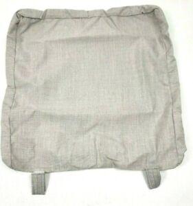 Pottery Barn Huntington Roll Arm Dining Chair Cushion Slipcover Sunbrella Gray
