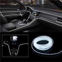 2m 12v Cable EL INTERIOR frío tira de luz coche atmósfera ADORNO LUZ LED BLANCO