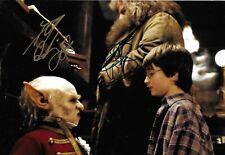 Daniel Radcliffe/ Warwick Davis Signed Harry Potter 12x8 Photo AFTAL