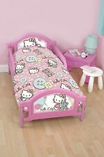 Special Offer - HELLO KITTY STITCH JUNIOR TODDLER  BABY COT BED DUVET COVER SET