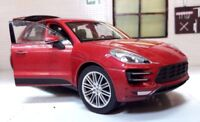 G LGB 1:24 Echelle Porsche Macan 3.0 V6 2014 Welly Voiture Miniature 24047 Rouge