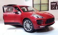 G LGB 1:24 Scale Porsche Macan 3.0 V6 2014 Welly Diecast Model Car 24047 Red