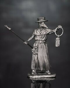 Tin Toy Soldiers New Medieval 1/32 Plague Doctor Miniature Civilian Man  54mm