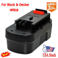 For BLACK & DECKER 18V 18 Volt HPB18 Slide Battery Pack Ni-CD HPD1800 FSB18 New
