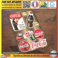 planche 9 Stickers autocollant coca-cola adhésif decal frigo cuisine meuble