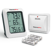 ThermoPr Digital Hygrometer Humidity Indoor Outdoor Thermometer Temperature Mete