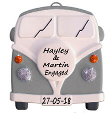 VW style Camper Van - Personalised in GREY - unusual Gift  - Truly for You