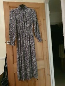 New Victorian Style Floral Marks And Spencer Dress Size 8