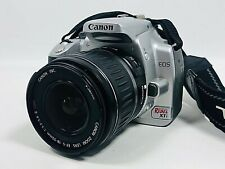 Canon EOS Rebel XTi DSLR Silver Camera w/18-55mm Lens battery, charger DS126151