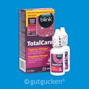 Blink Total Care Reiniger 1 x 2x 15ml Pflegemittel für harte Linsen von AMO