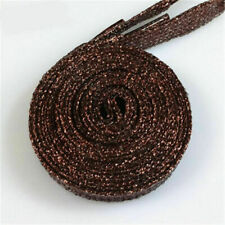 1pair 1.1m Pure Color Shiny thread Sneakers Flats Shoelaces Strings Bootlaces#13