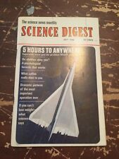 July 1966 Science Digest Magazine 5 Hours To Anywhere Supersonic Travel