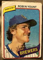 1980 Topps Robin Yount Baseball Card #265 Brewers HOF Shortstop Low-Grade