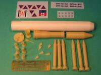 New Ware 1/144 Delta M6 1/144 Complete launch vehicle Kit - NW054
