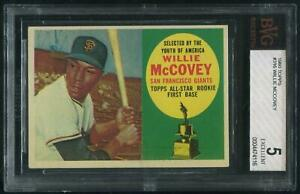 1960 Topps Baseball #316 Willie McCovey Rookie BVG 5 (EX)