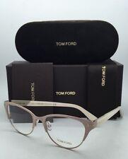 New TOM FORD Eyeglasses TF 5318 074 53-17 Light Pink & Gold Cat-Eye Frame w/Demo