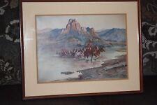 "Vintage C.M. Russell Print ""Renegades Return""  1900  11.25"" x 15.75"""