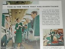 1956 Northern Pacific Railway ad, Stewardess-Nurse