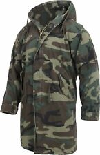 Camo Military M-51 Fishtail Parka Vintage Hooded Army Jacket Woodland Camouflage