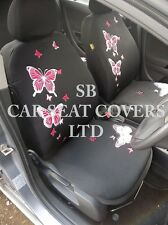 TO FIT A TOYOTA YARIS CAR, SEAT COVERS, ROSSINI PINK BUTTERFLY FULL SET + MATS