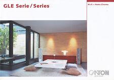 Katalog D GB Canton GLE 2006 Lautsprecher Boxen HiFi Home Cinema Prospekt