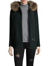 SANDRO Maxa Fur Trimmed Coat