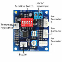 DC 12V PWM PC CPU Fan Temperature Control Speed Controller Board 5*4.3cm