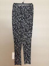 (NWT) Hue Women's Black Zebra Jersey Relaxed Leggings Size XS