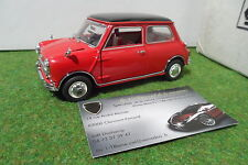 AUSTIN MINI COOPER S 1967 rouge toit noir 1/24  FRANKLIN MINT voiture miniature